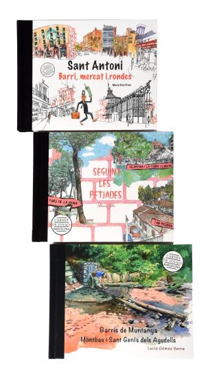 """Presentació dels 3 nous llibres dels Carnets de Barcelona: """"Sant Antoni"""" de Mercè Guiu, """"Barris de muntanya"""" de Lucia Gomez i """"Seguint les petjades"""" de Patricia Soler publicats per l'Ajuntament de Barcelona"""